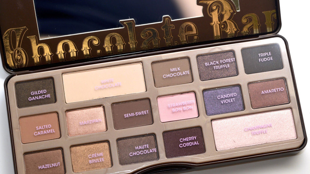 choklad palett smink